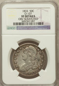 Bust Half Dollars, 1833 50C -- Obv Scratched -- NGC Details. XF. O-107. NGC Census:(77/1182). PCGS Population (143/1219). Mintage: 5,...