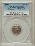 Seated Half Dimes: , 1850 H10C -- Cleaning -- Genuine PCGS. AU Details. NGC Census:(2/201). PCGS Population (6/163). Mintage: 955,000. Numismed...