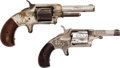 Handguns:Single Action Revolver, Lot of Two Spur Trigger Single Action Pocket Revolvers.... (Total:2 Items)