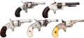 Handguns:Single Action Revolver, Lot of Five Spur Trigger Singe Action Pocket Revolvers.... (Total: 5 Items)