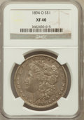 Morgan Dollars: , 1894-O $1 XF40 NGC. NGC Census: (173/3391). PCGS Population(264/3650). Mintage: 1,723,000. Numismedia Wsl. Price for probl...