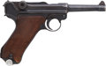Handguns:Semiautomatic Pistol, German S/42 Code Luger Dated 1938 Semi-Automatic Pistol....