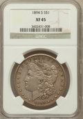 Morgan Dollars: , 1894-S $1 XF45 NGC. NGC Census: (87/2328). PCGS Population(109/3806). Mintage: 1,260,000. Numismedia Wsl. Price for proble...