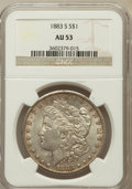 Morgan Dollars: , 1883-S $1 AU53 NGC. NGC Census: (523/3074). PCGS Population(430/3784). Mintage: 6,250,000. Numismedia Wsl. Price for probl...