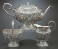 Silver Holloware, Continental:Holloware, A THREE-PIECE DUTCH SILVER TEA SERVICE . Holland, circa 1925-1926.Marks: (lion passant with 2), (z-hammer-z), P. 6-1/8 ...(Total: 3 Items)