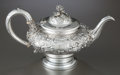 Silver Holloware, British:Holloware, A RICHARD SIBLEY VICTORIAN SILVER TEA POT . Richard Sibley, London,England, circa 1850-1851. Marks: (lion passant), (leopar...
