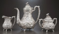 Silver Holloware, American:Coffee Pots, A THREE-PIECE STIEFF COMPANY ROSE PATTERN SILVER COFFEESERVICE . The Stieff Company, Baltimore, Maryland, circa... (Total:5 Items)