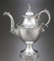 A ROBERT & WILLIAM WILSON COIN SILVER TEA POT Robert & William Wilson, Philadelphia, Pennsylvania, circa...