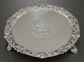 Silver Holloware, British:Holloware, A THOMAS HANNAM & RICHARD MILLS GEORGE III SILVER FOOTEDSALVER. Thomas Hannam & Richard Mills, London, England, circa1764-...