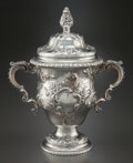 Silver Holloware, American:Cups, A GORHAM SILVER TROPHY CUP WITH COVER . Gorham Manufacturing Co.,Providence, Rhode Island, circa 1900. Marks: (lion-anchor-...