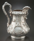 Silver Holloware, American:Coin Silver, A JONES, BALL & POOR COIN SILVER PITCHER. Jones, Ball &Co., Boston, Massachusetts, circa 1850. Marks: JONES, BALL &POUR,...