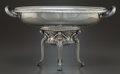 Silver Holloware, Continental:Holloware, A GERMAN SILVER FOOTED CENTERPIECE BOWL. Maker unidentified,Germany, circa 1910. Marks: (effaced)-800-(effaced), 179...