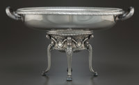 A GERMAN SILVER FOOTED CENTERPIECE BOWL Maker unidentified, Germany, circa 1910 Marks: (effaced)-800