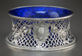 Silver Holloware, British:Holloware, A WEST & SON EDWARDIAN SILVER RETICULATED PLATE STAND. West& Son, Dublin, Ireland, circa 1906-1907. Marks: (Hibernia),(cro... (Total: 2 Items)