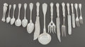 Silver Flatware, Continental:Flatware, A CASED ONE HUNDRED-NINETEEN PIECE HEINRICH FRIES CONTINENTALSILVER FLATWARE SERVICE . Heinrich Fries, circa 1900. Marks: (...(Total: 119 Items)
