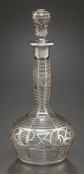 Decorative Arts, Continental:Other , A CONTINENTAL GLASS AND SILVER OVERLAY PERFUME . Maker unknown,circa 1900. 8-1/8 inches high (20.6 cm). Provenance: . Pro...(Total: 2 Items)