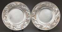 A PAIR OF WHITING SILVER AND SILVER GILT SOUP BOWLS Whiting Manufacturing Company, New York, New York, circa 1900