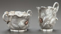 Silver Holloware, American:Creamers and Sugars, A GEORGE W. SHIEBLER & CO. SILVER, SILVER GILT AND MIXED METALCREAMER AND SUGAR BOWL . George W. Shiebler & Co., New York,... (Total: 2 )