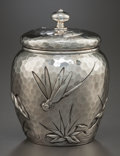 Silver Holloware, American:Tea Caddies, A HOWARD & CO. HAND-HAMMERED SILVER LIDDED JAR. Howard &Co., New York, New York, circa 1882. Marks: HOWARD & CO.,STERLIN... (Total: 2 )