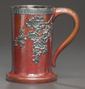 Silver Holloware, American:Mixed Metal, A GORHAM SILVER AND PATINATED COPPER MUG. Gorham Manufacturing Co., Providence, Rhode Island, circa 1885. Marks: (anchor), ...