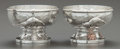 Silver Holloware, American:Open Salts, A PAIR OF TIFFANY & CO. JAPANESQUE HAND-HAMMERED SILVERAND MIXED METAL OPEN SALTS . Tiffany & Co., New York, Ne...(Total: 2 )