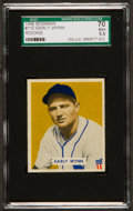 Baseball Cards:Singles (1940-1949), 1949 Bowman Early Wynn #110 SGC 70 EX+ 5.5....