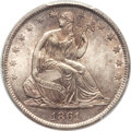 Seated Half Dollars, 1861-O 50C MS65 PCGS....