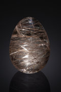 "Lapidary Art:Eggs and Spheres, INCOMPARABLE RUTILATED QUARTZ ""EGG"". Madagascar. ..."
