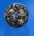 Lapidary Art:Eggs and Spheres, INCREDIBLE ORBICULAR GRANITE SPHERE FROM AN ATYPICAL LOCALITY. Caldera, Chile. ...