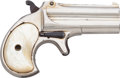 Handguns:Derringer, Palm, Remington Over & Under Derringer Second Model ....