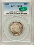 Barber Quarters: , 1895 25C MS62 PCGS. CAC. PCGS Population (42/130). NGC Census:(32/113). Mintage: 4,440,880. Numismedia Wsl. Price for prob...