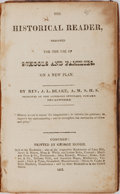 Books:Americana & American History, [Slavery]. Rev. J. L. Blake. The Historical Reader, Designed forthe Use of Schools and Families. Concord: George Ho...