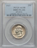 Washington Quarters, 1937 25C Doubled Die Obverse AU58 PCGS. FS-101....