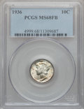 Mercury Dimes, 1936 10C MS68 Full Bands PCGS....