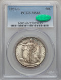 Walking Liberty Half Dollars, 1937-S 50C MS66 PCGS. CAC....