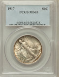 Walking Liberty Half Dollars: , 1917 50C MS65 PCGS. PCGS Population (311/91). NGC Census: (211/43).Mintage: 12,292,000. Numismedia Wsl. Price for problem ...
