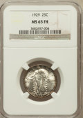 Standing Liberty Quarters: , 1929 25C MS65 Full Head NGC. NGC Census: (141/64). PCGS Population(302/99). Mintage: 11,140,000. Numismedia Wsl. Price for...
