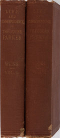 Books:Biography & Memoir, [Slavery Abolitionist]. Theodore Parker[subject]. John Weiss.Life and Correspondence of Theodore Parker. Appleton, ...(Total: 2 Items)