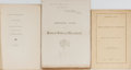Books:Americana & American History, [Slavery]. George H. Moore. Group of Three Related Pamphlets.1862-1867. One volume with the ownership signature of William ...(Total: 3 Items)