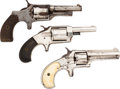Handguns:Single Action Revolver, Lot of Three Spur Trigger Single Action Revolvers.... (Total: 3 Items)