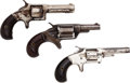 Handguns:Single Action Revolver, Lot of Three Single Action Pocket Revolvers.... (Total: 3 Items)