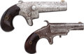 Handguns:Derringer, Palm, Lot of Two Derringers.... (Total: 2 Items)