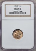 Mercury Dimes, 1918 10C MS65 Full Bands NGC....