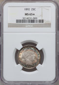 Barber Quarters, 1892 25C MS65 ★ NGC....