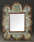 Decorative Arts, British:Other , A WILLIAM AND MARY-STYLE BEAD-WORK AND FAUX TORTOISESHELL TOILETMIRROR . Circa 1690 (in part). 25-1/2 inches high x 20 inch...