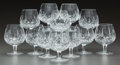 Decorative Arts, Continental, A SET OF TWELVE WATERFORD LISMORE PATTERN BRANDY STEMS.Waterford Crystal, Waterford, Ireland, 20th century. Mar... (Total:12 Items)