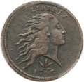 Large Cents, 1793 1C Wreath Cent, Vine and Bars VF30 PCGS. S-9, B-12, R.2....