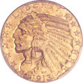 Indian Half Eagles, 1913-S $5 MS63+ PCGS. CAC....
