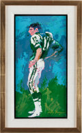 Football Collectibles:Others, 1965 Joe Namath Original Painting by LeRoy Neiman....