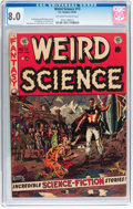 Golden Age (1938-1955):Science Fiction, Weird Science #13 (EC, 1952) CGC VF 8.0 Off-white to whitepages....